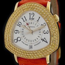DeLaneau Yellow Gold Starmaster DUAL TIME Jeweled Watch