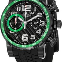 Graham Silverstone Stowe Automatic Chronograph Black Carbon...