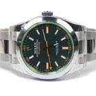Rolex New Rolex Milgauss Green Crystal 116400V 2013 Box Papers