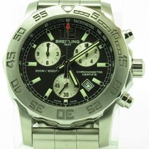 Breitling Colt Chronograph Ii Mens Watch A73387 Black Dial...