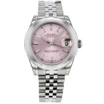 Rolex Datejust Stainless Steel Automatic Pink Dial Midsize...