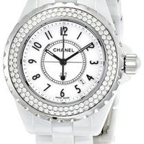 Chanel J12 Diamond White Ceramic Ladies Watch H0967