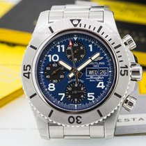 Breitling SuperOcean Steelfish Chronograph SS/SS Blue Dial