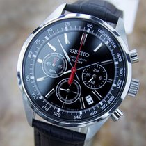 Seiko Chronograph Made In Japan Large 1990s Stainless Steel...
