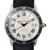 Cartier Rotonde De Cartier Stainless Steel Silvery White...