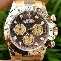 Rolex Daytona 18k Gold 116528 Golddust Mop Diamond Dial  Year...