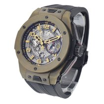 Hublot Big Bang Ferrari Skeleton Dial 18K Yellow Gold Automati...