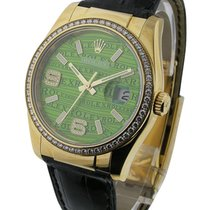 Rolex Unworn 116188 Datejust on Strap with Diamond Bezel -...