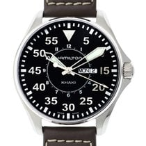 Hamilton Khaki Aviation Pilot Stainless Steel Black Quartz...