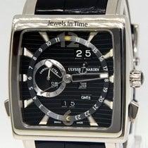 Ulysse Nardin GMT Quadrato Dual Time 18k White Gold Watch...