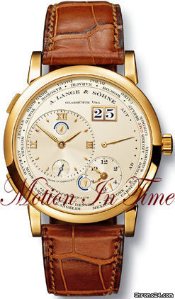 A. Lange &amp;amp; Shne LANGE 1 TIMEZONE - YELLOW GOLD- 2 TIMEZONES W/ POWER RESERVE