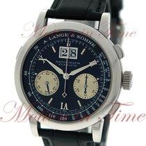 A. Lange & Söhne A  Datograph, Black Dial - Platinum on Strap