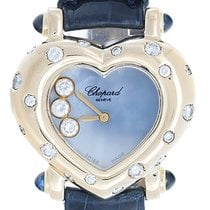 Chopard Happy Hearts Ladies 18k Yellow Gold Watch Blue MOP...