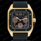 Cartier SANTOS 100 XL CHRONOGRAPH ROSE GOLD &BLACK CARBON