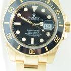 Rolex Submariner Yellow Gold,Ceramic,Black dial,Unworn condition