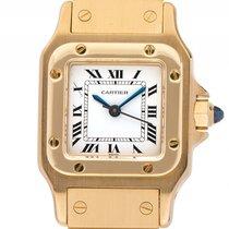 Cartier Santos PM kleines Modell Gelbgold Automatik 35x24mm...