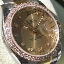 Rolex Datejust 116243 Mens Steel & Gold Champagne Serti...