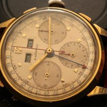 Gübelin rare E. Gübelin Dato-Compax Valjoux 72 C  18 Kt Gold