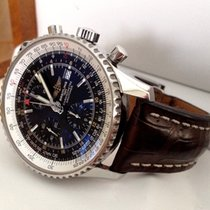 Breitling Navitimer World Chronograph Steel Black Dial 46 mm...