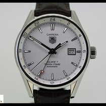 TAG Heuer Carrera Calibre 7 Twin Time, Steel/Leather