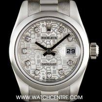 Rolex Platinum Silver Jubilee Dia Dial Datejust  NOS B&P...