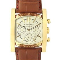 Bulgari Assioma Ivory Dial Brown Leather Men's Watch