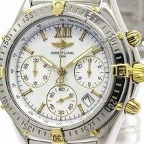 Breitling Chrono Jetstream Mop 18k Gold Steel Watch B55048...