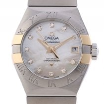 Omega Constellation Co-Axial Chronometer Stahl Gelbgold...