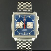 TAG Heuer Monaco Steve Mcqueen Vintage Steel 38mm Chronograph...