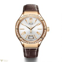 Piaget Gouverneur Automatic Rose Gold Diamond Silver Dial...