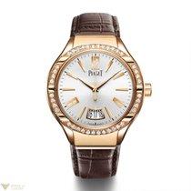 Piaget Gouverneur Automatic Rose Gold Diamond Silver Dial...