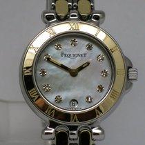 "Pequignet ""Moorea Classique Diamonds"" 18K gold/steel"