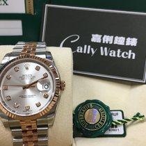 Rolex Cally - 116231 G 36mm Datejust RG & Steel Silver...