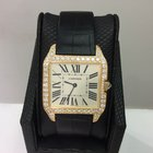 Cartier Santos Dumont Ref. Wh100451 Factory Diamond 18k Y/gold...