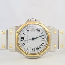 Cartier Santos Octagon 18k Gold Steel 29mm
