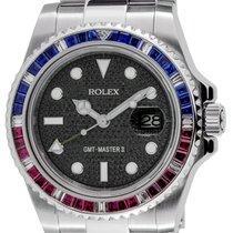 Rolex GMT-Master II Steel Black Pavé Dial Custom 116710LN