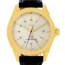 Omega Deville Co-axial Gmt 18k Yellow Gold Watch 4633.30.31