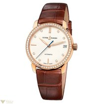 Ulysse Nardin Classico Lady Diamonds Bezel Rose Gold 18K Brown...