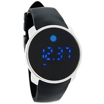Movado Bold Mens Black Digital Touch Screen Dual Time Swiss...