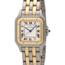 Cartier Panthere Stainless Steel/Gold Quartz Mid-Size Watch –...