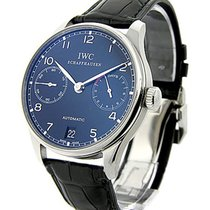 IWC 500109 Portuguese 7 Day Automatic in Steel - On Black...