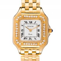 Geneve Damenuhr 18kt Gelbgold Diamond Quarz Armband 18kt...