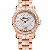 Chopard Happy Sport 18K Rose Gold & Diamonds Ladies Watch