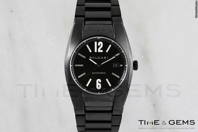 Bulgari Men's Black DLC/PVD Coated  Ergon Watch
