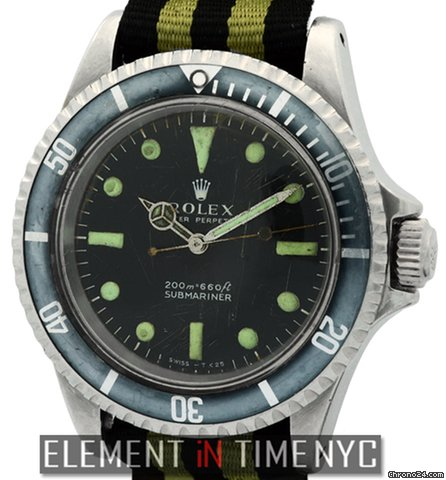 Rolex Submariner Stainless Steel 40mm Custom Luminova 5513