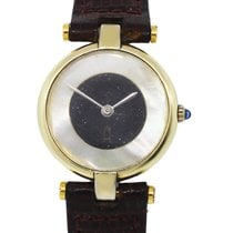 Cartier Vermeil Mother of Pearl Gold Dusted Onyx Dial  Watch