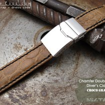 IWC 21mm Croco Grain Leather Replacement Band #C4C11