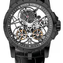 Roger Dubuis Excalibur Skeleton Double Flying Tourbillon Black...