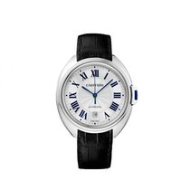 Cartier Clé Silvered Flinqué Dial