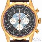 Breitling Transocean Unitime Chronograph 46mm Men's Red Gold...